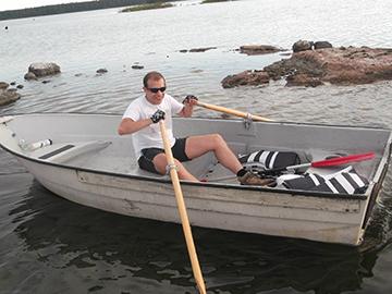 Ximo navegando en Rauma