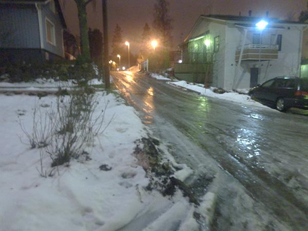 Nieve en Finlandia