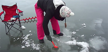 Pesca hielo Luli Finlandia