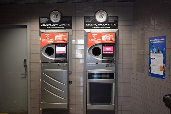 máquina reciclaje latas Finlandia