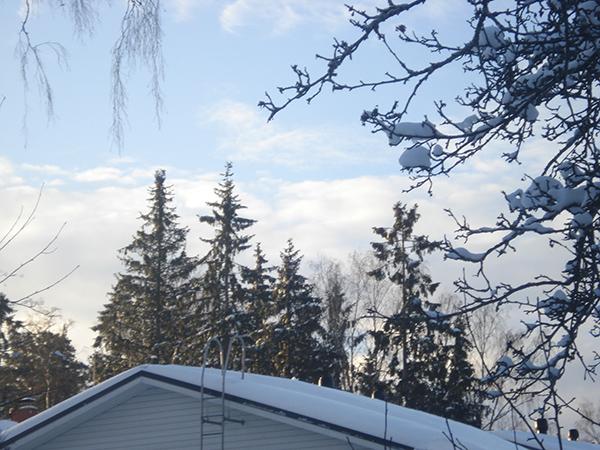 nieve cielo Finlandia
