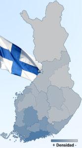 Densidad población Finlandia