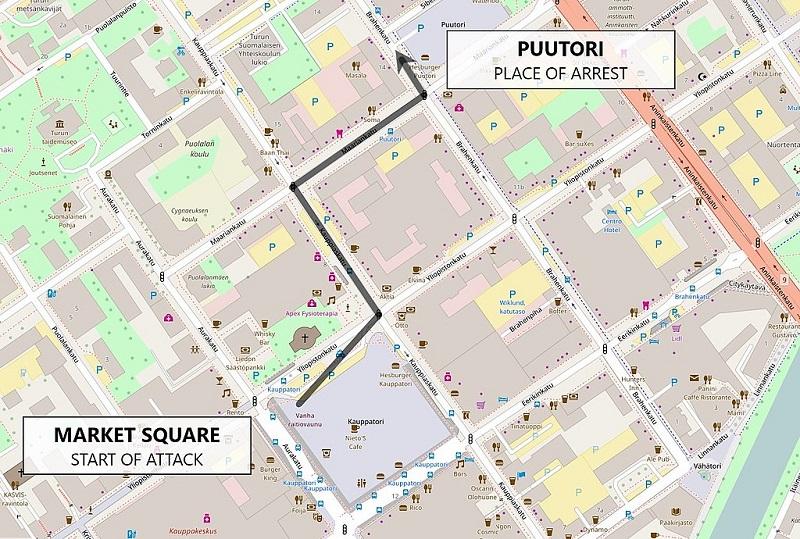 Mapa Atentado Turku