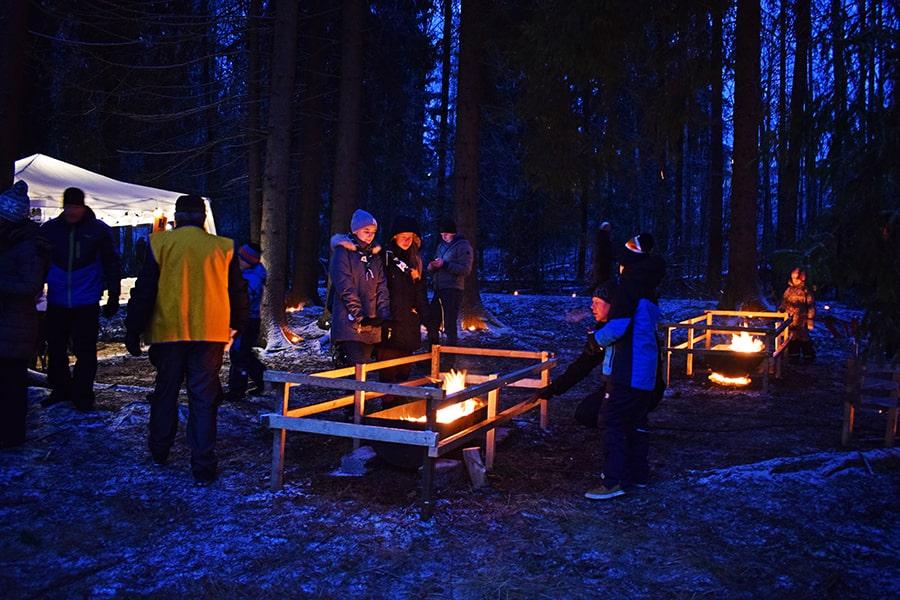 Oscuridad invierno Finlandia