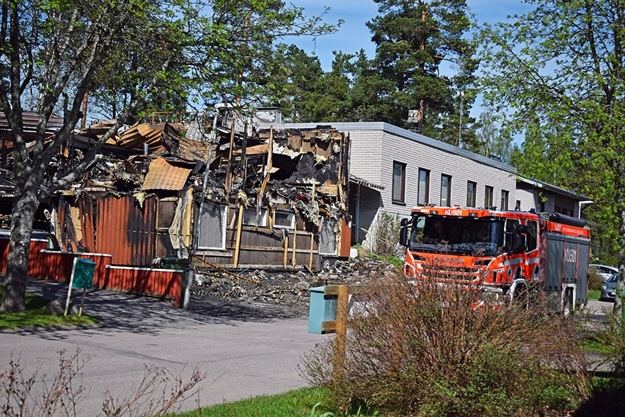 Incendio Finlandia