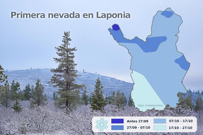 Primera nevada Laponia
