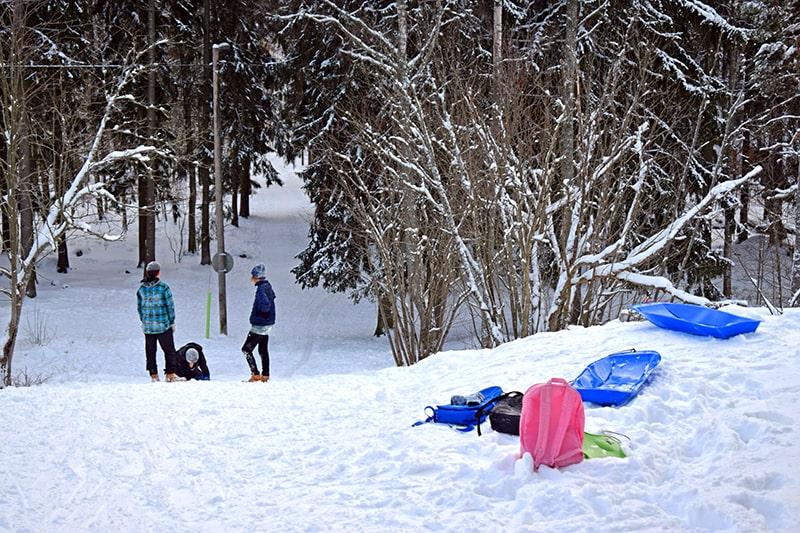 Helsinki invierno Lauttasaari