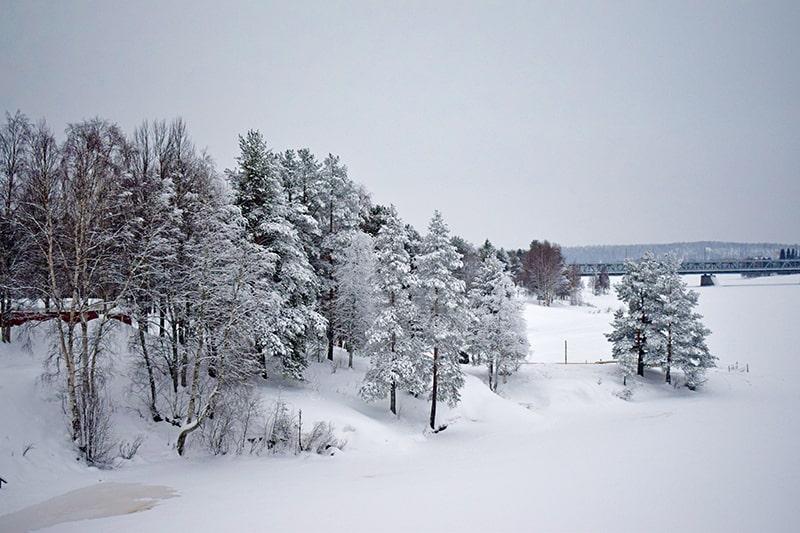Río Kemijoki invierno