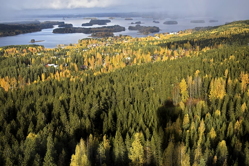 Kuopio Finlandia región natural