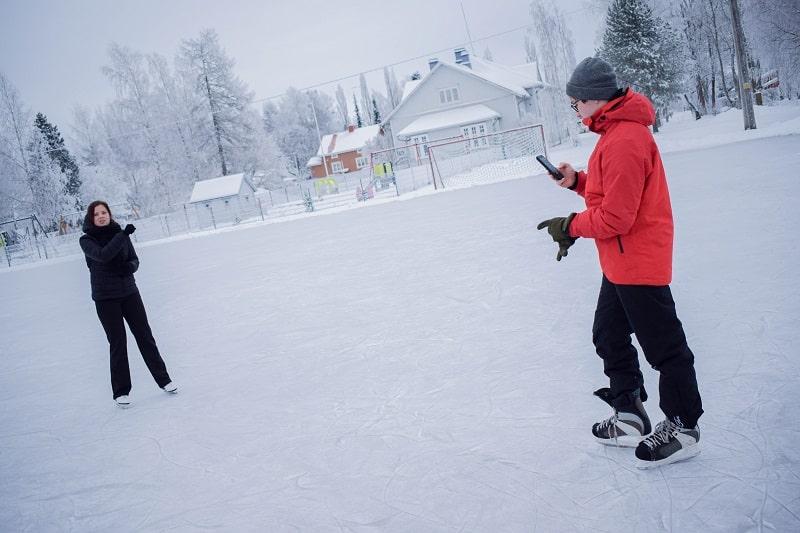 patinar sobre hielo finlandia