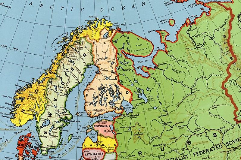 mapa frontera finlandia rusia