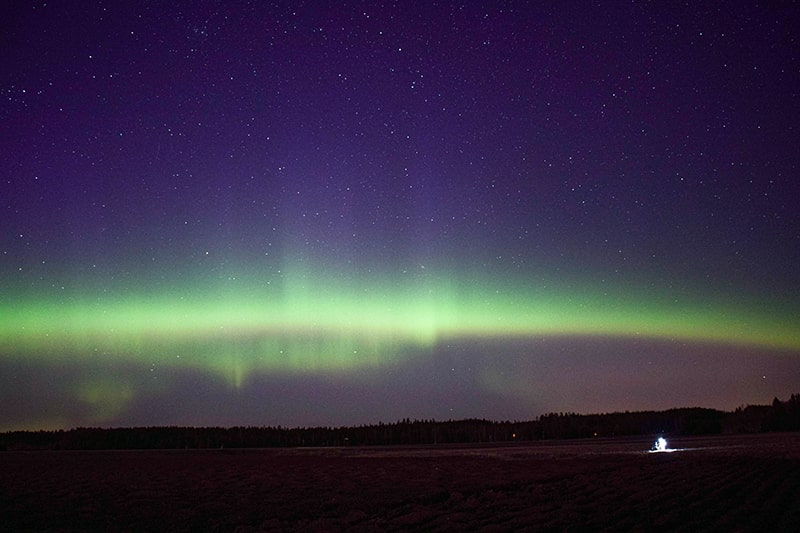 aurora boreal sur finlandia